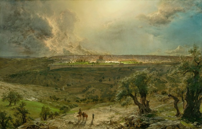 Jerusalem from the Mount of Olives oil on canvas Frederic Edwin Church, 1870
