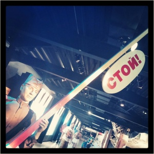 """this Russian sign at the Air Force Museum is pronounced """"stoy!"""" which means """"stop!"""""""